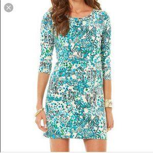 Lilly Pulitzer Corine Sea Oat Shift Dress M